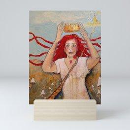 Crowning Herself Mini Art Print