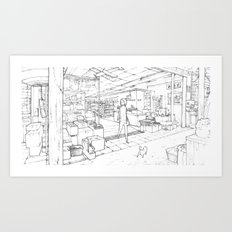 Little Cat's Journey Art Print