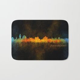 Jerusalem City Skyline Hq v4 Bath Mat