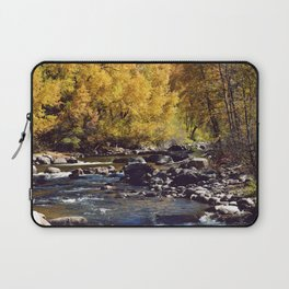 Eagle River in Avon Colorado Laptop Sleeve
