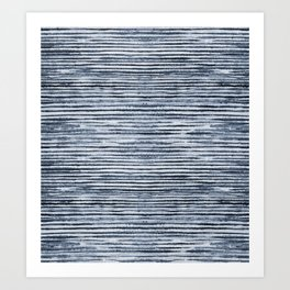 Watercolor Shibori Zebra Stripes Art Print