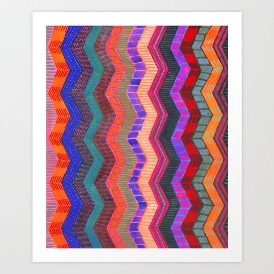 PATTERN {Chevron 003} Art Print