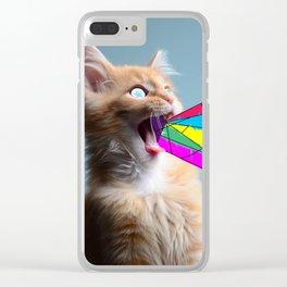 trippy cat Clear iPhone Case