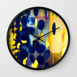 GLAM CIRCLES #Blue #1 Wall Clock