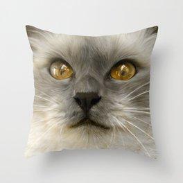 """Cute Kitty (Love cats)"" Throw Pillow"
