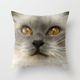 """Cute Kitty (Love cats)"" Throw Pillow"