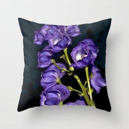 Dark Purple Elegance Throw Pillow