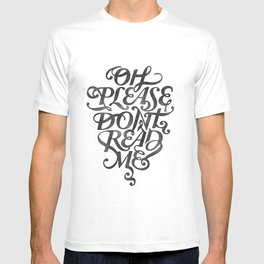 Please Don't (white version) T-shirt