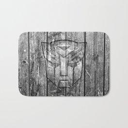 Autobot Monochrome Wood Texture Bath Mat