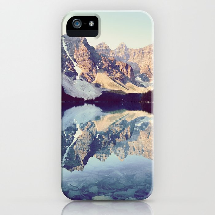 moraine lake reflection iphone case
