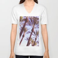 palms V-neck T-shirts featuring Palms by lilycreations