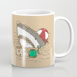 Sandy Beach Shark Coffee Mug