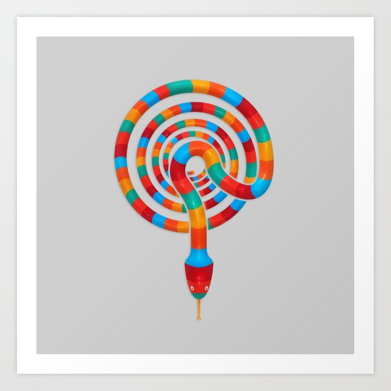 Vibrant Viper  Art Print
