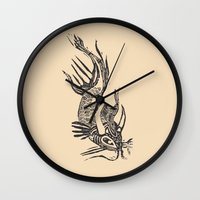 data Wall Clocks featuring Data Fish by Samantha Witherford