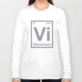 Periodic Element Vibranium science T-Shirts Long Sleeve T-shirt