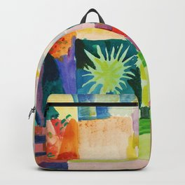 Garden On Lake Thun - Digital Remastered Edition Backpack