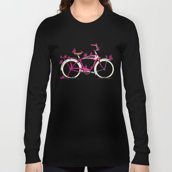Butterfly Bicycle Long Sleeve T-shirt