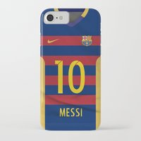 messi iPhone & iPod Cases featuring Barcelona Messi by Diego Tirigall