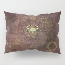 Steampunk Zodiac Cancer Pillow Sham