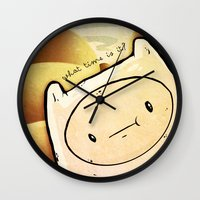 finn Wall Clocks featuring Finn by Unihorse