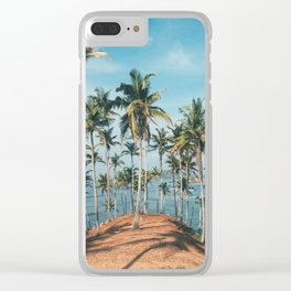 Palm trees 4 Clear iPhone Case