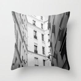 Paris in Black and White, Paris Apartments Throw Pillow