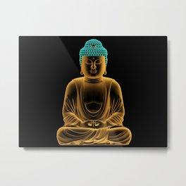 Buddha glow Metal Print