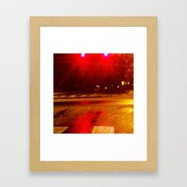 Crimson Camber Framed Art Print