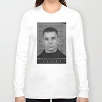 kerouac Long Sleeve T-shirts featuring Jack Kerouac Naval Enlistment Mug Shot  by All Surfaces Design