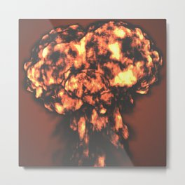 A nuclear explosion Metal Print