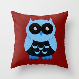 Vintage Vector Smart Owl Throw Pillow