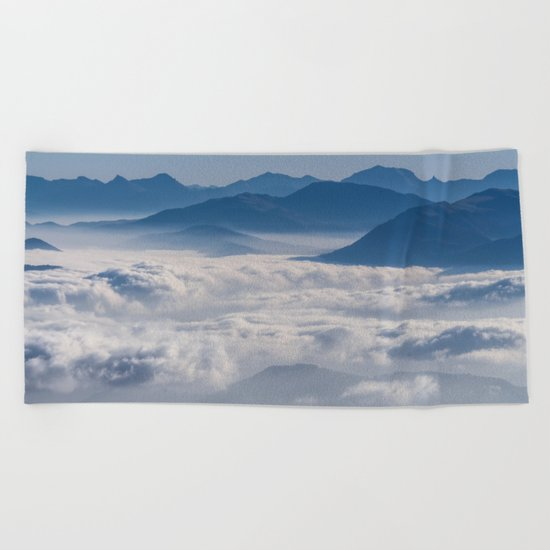 Follow me into the clouds #plane #air Beach Towel