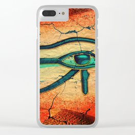 Egyptian Eye of Horus - Ra Clear iPhone Case