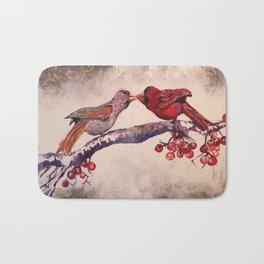 Kissing Cardinals Bath Mat