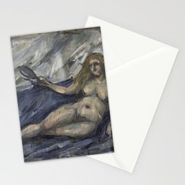 Paul Cezanne - Femme au miroir Stationery Cards