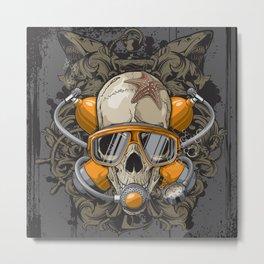 Crânio Metal Print