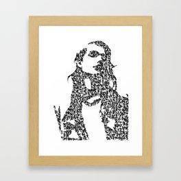 Kanji Calligraphy Art :woman's face #37 Framed Art Print