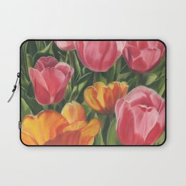 Pink and Yellow Tulips Laptop Sleeve