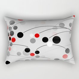 Winterberry - Abstract - Black, Gray, Red, White Rectangular Pillow