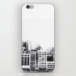 Woodward Avenue Downtown Detroit Black and White Print iPhone Skin