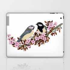 Chickadee Couple on Cherry Branch Laptop & iPad Skin