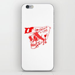 I believe in love Skull iPhone Skin