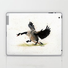 Cranky Goose - watercolor art, bird, animals Laptop & iPad Skin