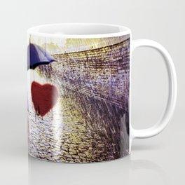 Three Lonely Hearts In the Rain Coffee Mug