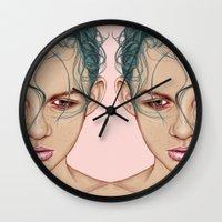 swim Wall Clocks featuring SWIM by Laura O'Connor