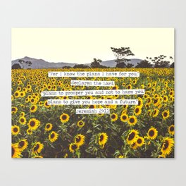 Jeremiah Sunflowers Canvas Print