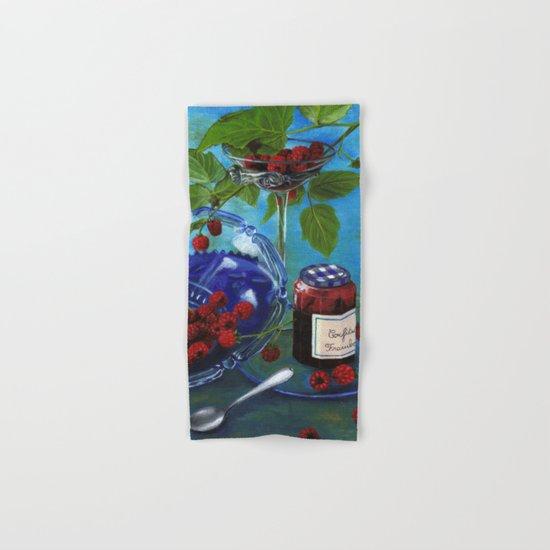 Still-life with raspberries Hand & Bath Towel