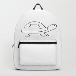Tortoise Lineart Icon Backpack