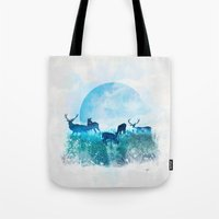 twilight Tote Bags featuring Twilight by Lynette Sherrard Illustration and Design