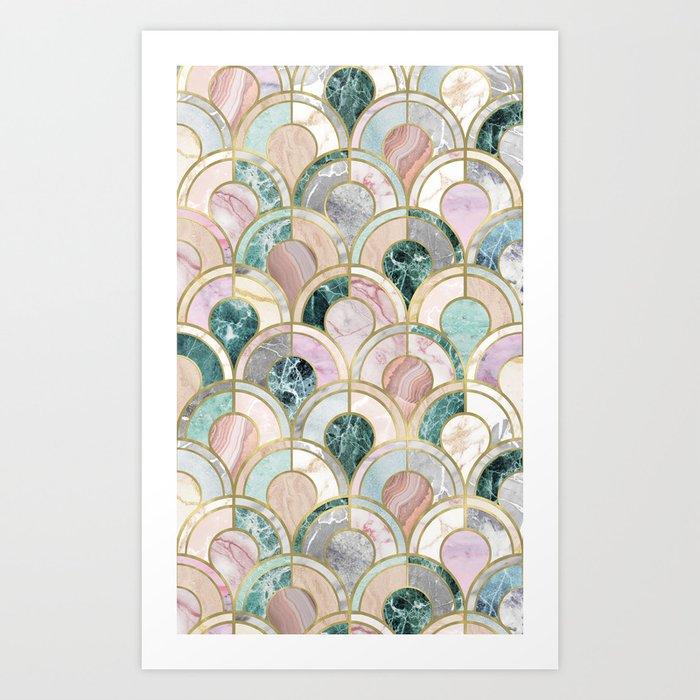 Marble Inlays Art Print